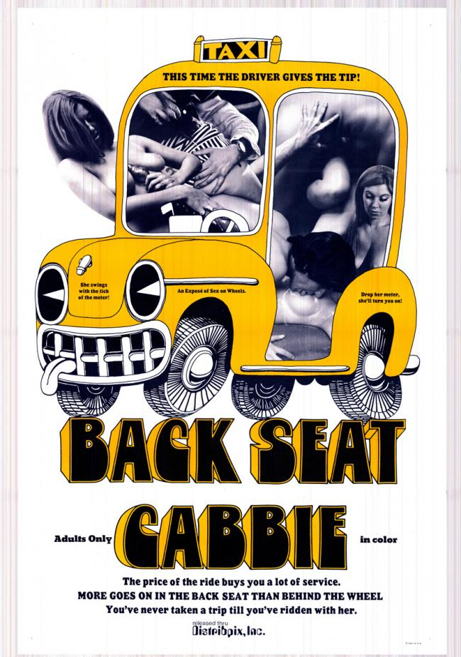 Back Seat Cabbie- Original Movie Poster