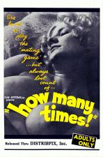 How Many Times (B & W) Movie Poster